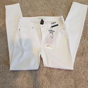 White Rewash Brand Jegging Jean's Ultra Stretch
